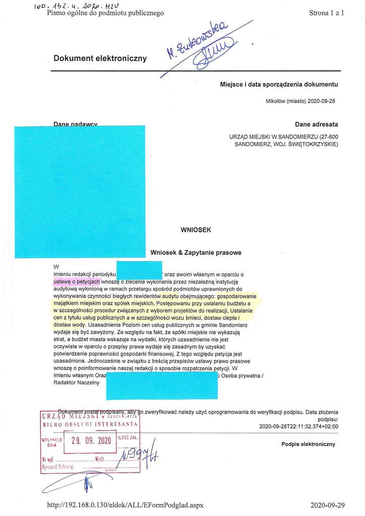 Audyt dot. gospodarki finansowej gminy