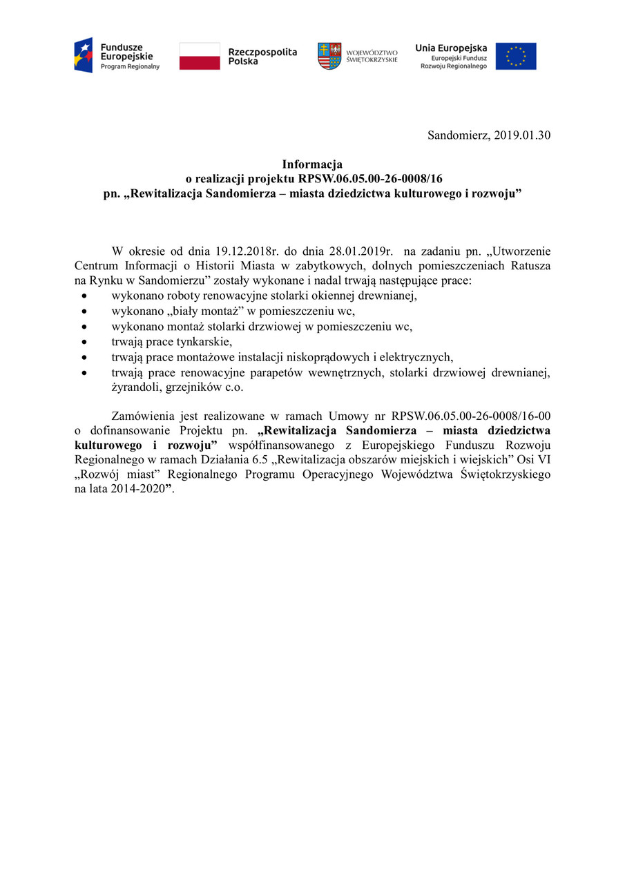 rewitalizacja Sandomierza, ratusz info3.jpeg