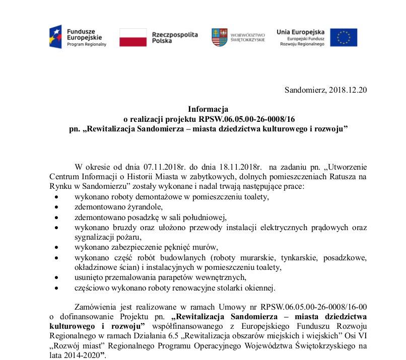 rewitalizacja Sandomierza, ratusz info4.jpeg