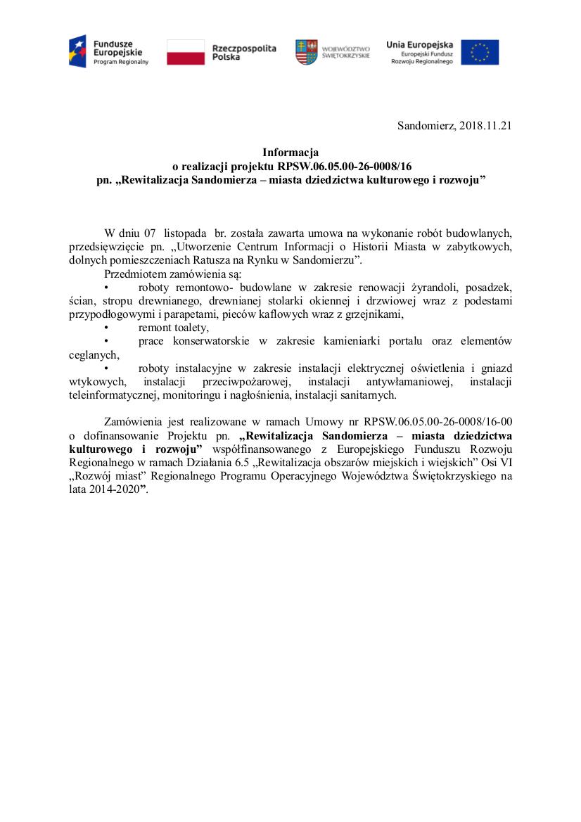 rewitalizacja Sandomierza, ratusz info5.jpeg