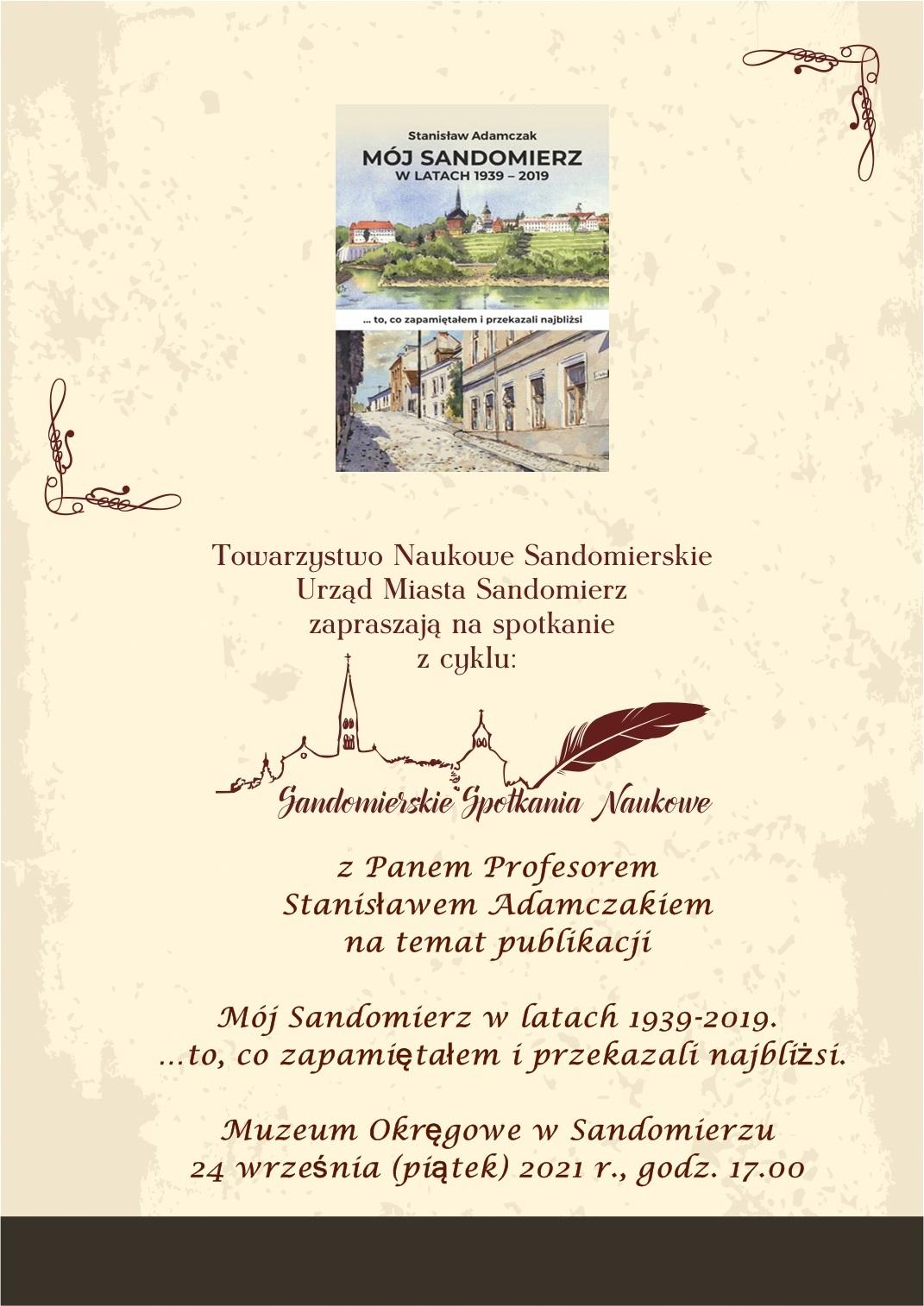 Prof. Stanisław Adamczak - Sandomierskie Spotkania Naukowe.jpeg