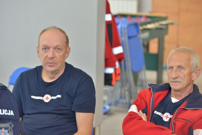 Przedstawiciele Polskiego Czerwonego Krzyża