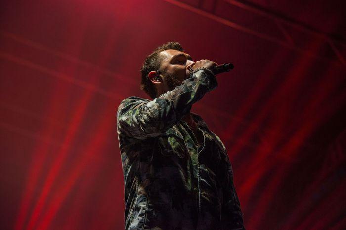 Kamil Bednarek śpiewający na scenie