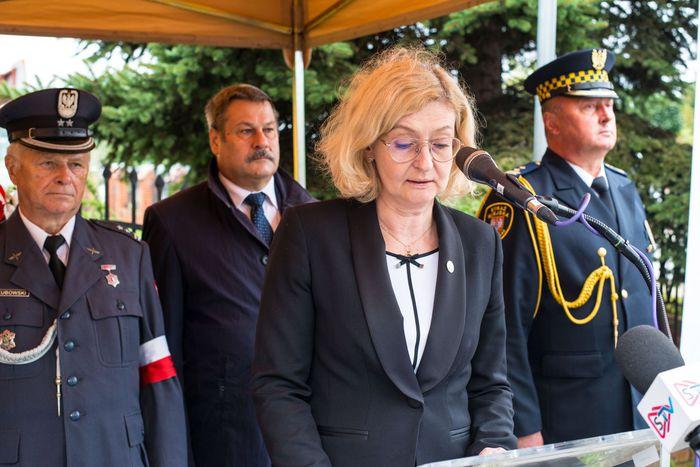 49. Sekretarz miasta Sandomierza wygłasza przemówienie